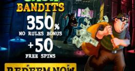 RTG Slot Cash Bandits Banner