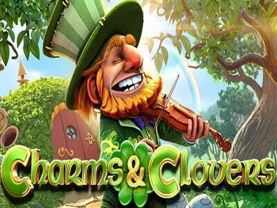 betsoft gaming slot charms and clovers banner