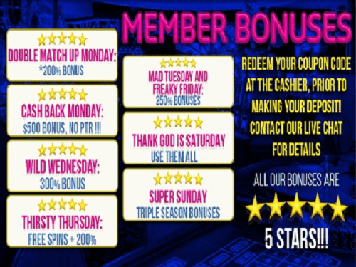 Sun Palace Bonus Codes