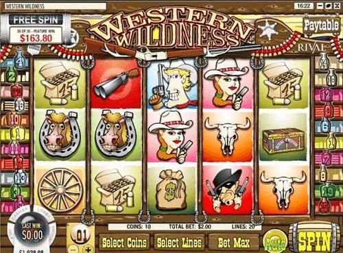 Western wilderness slot game