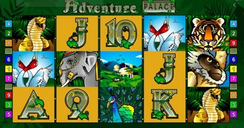 Adventure Palace Slot Reels