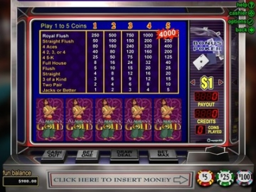 Aladdin's Gold Video Poker