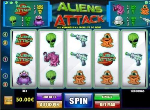 aliens attack slots