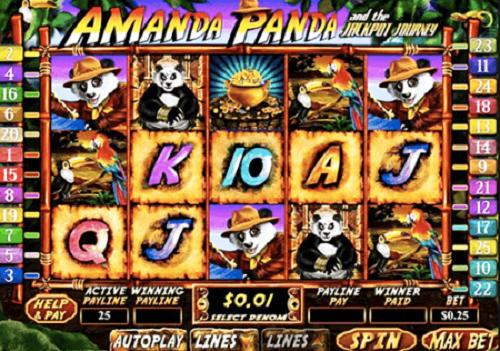 Amanda Panda and the Jackpot Journey Slot Reels