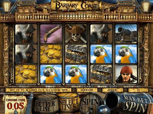 Barbary Coast Slot Reels