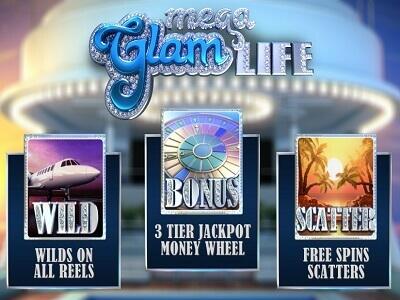 betsoft gaming slot mega glam life banner