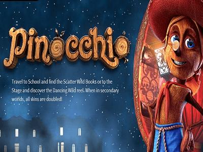 Betsoft Gaming Slot Pinocchio Banner