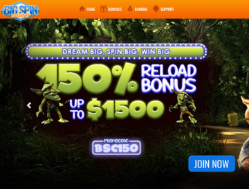 big spin casino bonuses