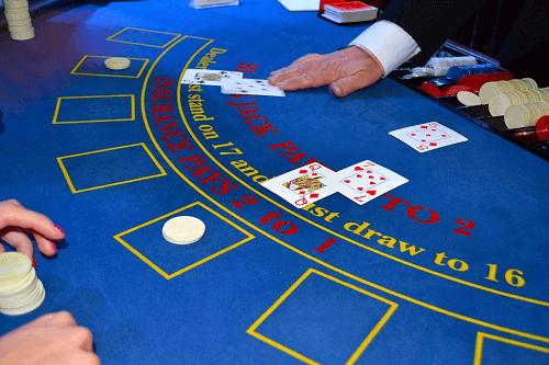 blackjack dealer job