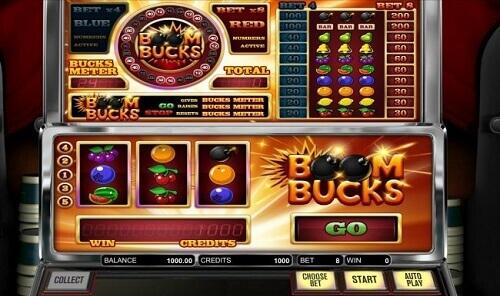 Boom Bucks Slot Reels