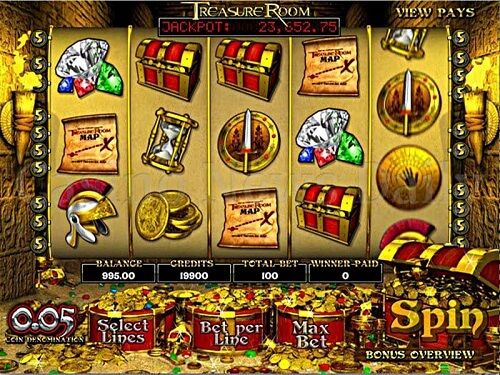 Bovada Online Casino Treasure Room Slots
