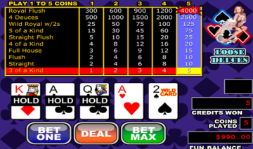 Bovegas Casino Video Poker