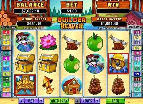 Builder Beaver Slot Reels