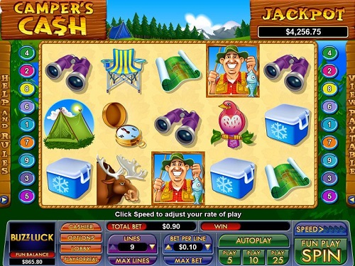campers cash slot reels