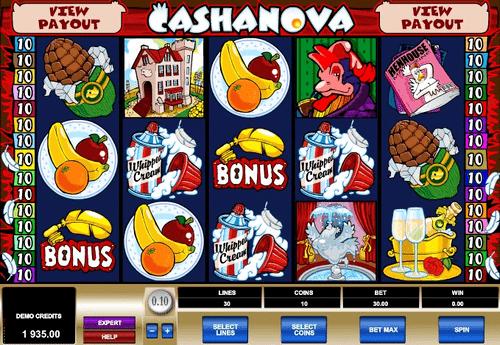Cashanova Slot Reels