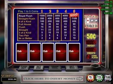 club world casino video poker