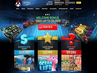 drake casino homepage new
