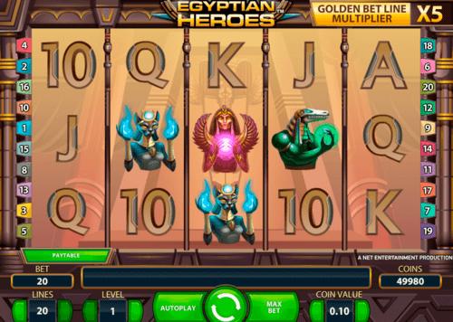Egyptian Heroes NetEnt Online Slot