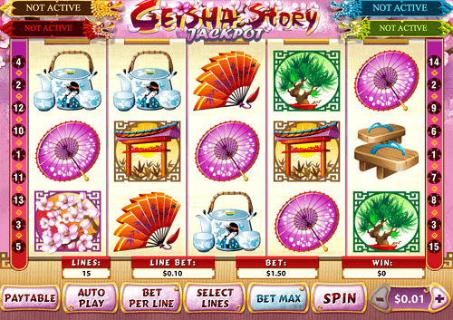 geisha story casino slot