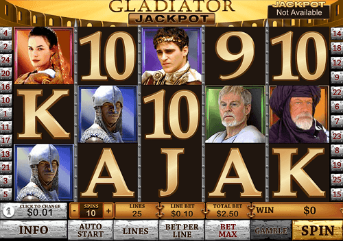Gladiator Playtech Slot Reels