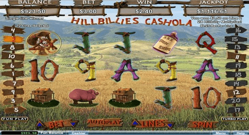 Hillbillies Cashola Slot Reels