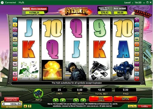 incredible hulk random logic slot reels