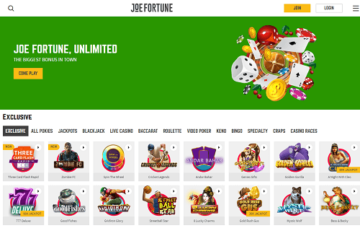 joe fortune homepage