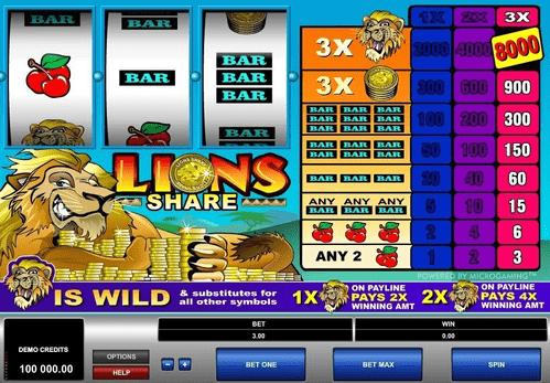 Lions Share Slot Reels