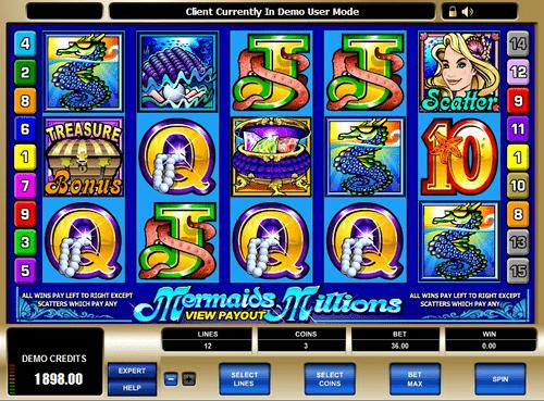 Mermaids Millions Microgaming Slot