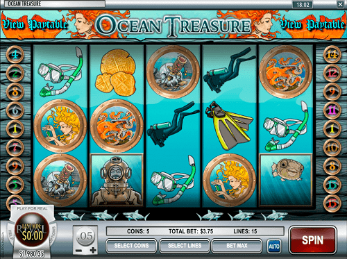 Ocean Treasure Slot Reels