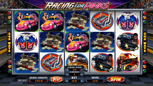Racing For Pinks Slots Reels