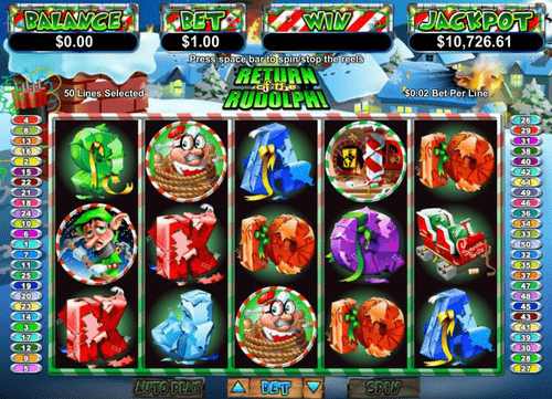 Return of the Rudolph Slot Reels
