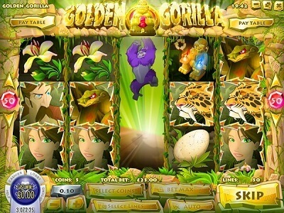 rival gaming slot golden gorilla wild symbol