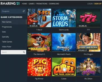 roaring 21 casino games usa