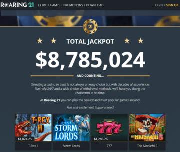 roaring 21 casino review us