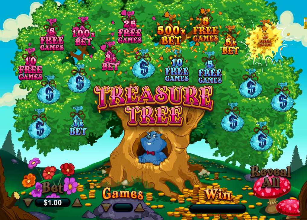 RTG Online Scratchcard Treasure Tree