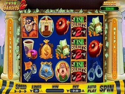 Cash Bandits 2 Slot Reels