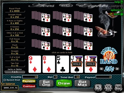 RTG Video Poker Aces and Eights