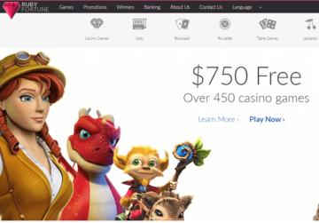 ruby fortune casino homepage