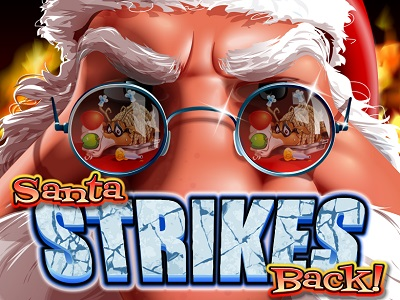 Santa Strikes Back Slot Banner