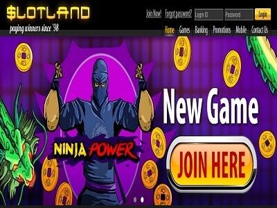 slotland homepage january 2017