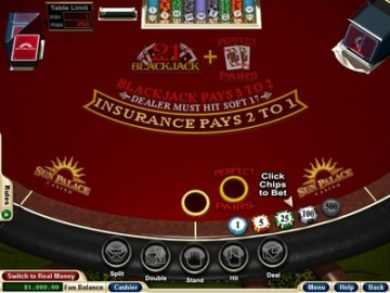 Sun Palace Blackjack