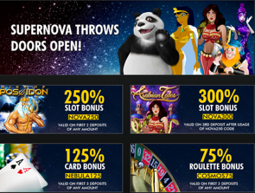 Supernova Casinos Bonus