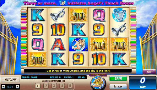 the angels touch slot reels