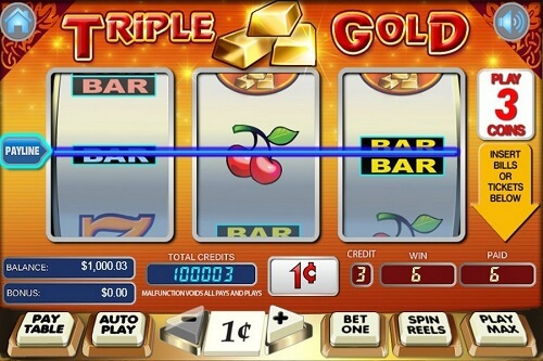Triple Gold Slot Reels