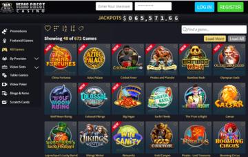 vegas crest casino games