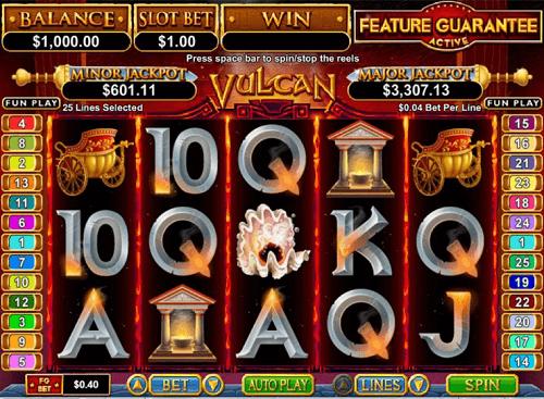 Vulcan Slot Reels