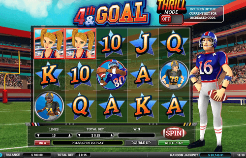 4th and goal slot reels