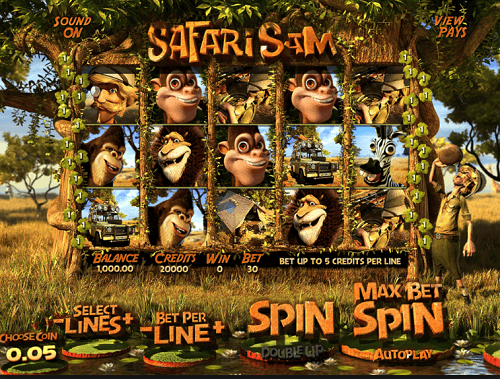 Safari Sam Slot Reels