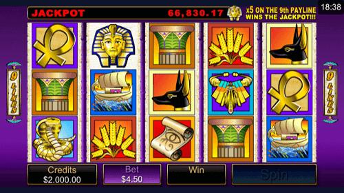 Treasure Nile Slot Reels
